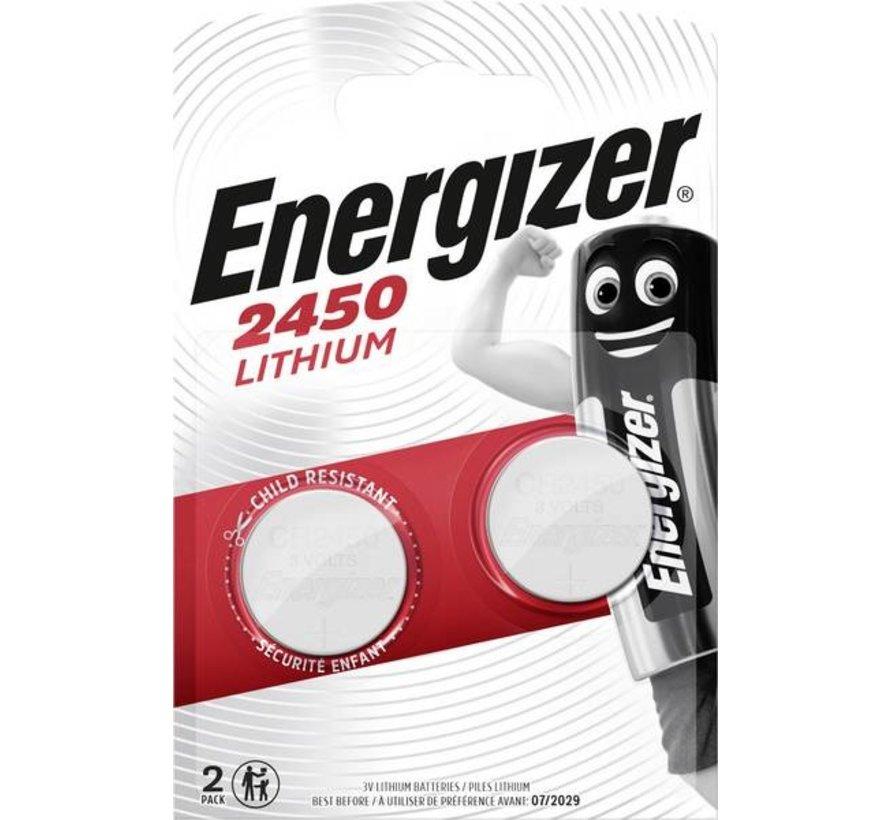 CR2450 Lithium 3V Batterij (2Pcs)