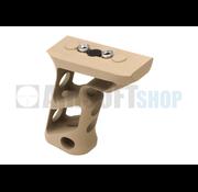 Metal CNC Keymod Long Angled Grip  (Dark Earth)