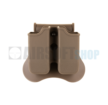 Amomax Double Mag Pouch for WE / KJW / TM 17/19 (Dark Earth)