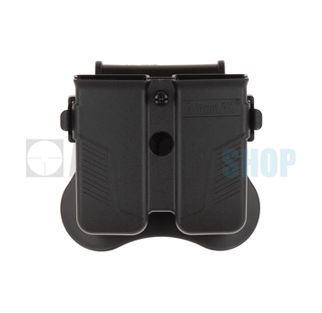 Amomax Universal Double Magazine Pouch (Black)