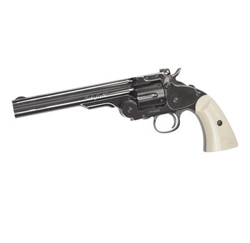 """ASG 6"""" Schofield  4.5mm Airgun (Plated Steel GY & Ivory Grip)"""