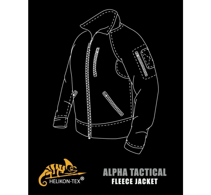 Alpha Tactical Grid Fleece Jacket (Foliage Green)