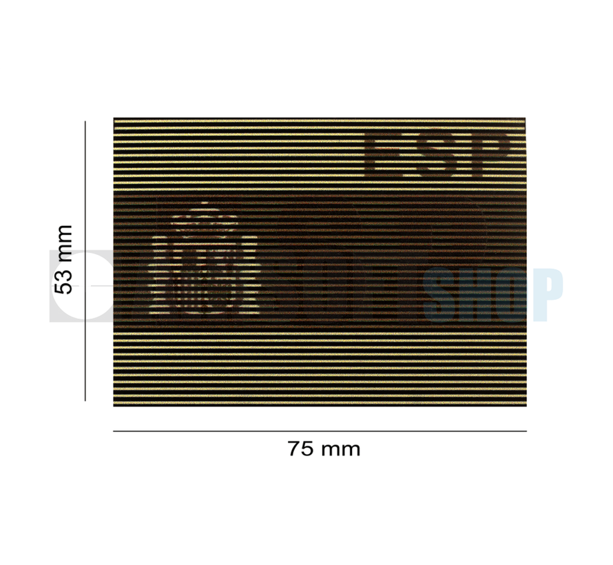 Dual IR Flag Patch ESP (Spain) (Desert)