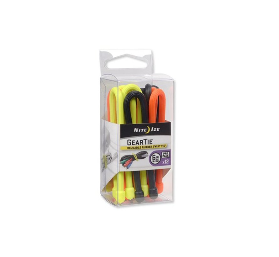 "Gear Tie 6"" Pro Pack (Assorted)"