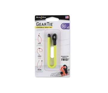 "Nite Ize Gear Tie Loopable 6"" 2Pack (Neon Yellow)"