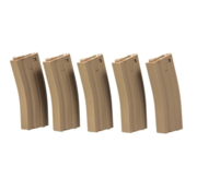 Specna Arms M4/M16 Metal Highcap 5-Pack 300rds (Tan)