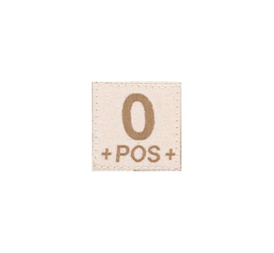 O POS Bloodgroup Patch (Desert)
