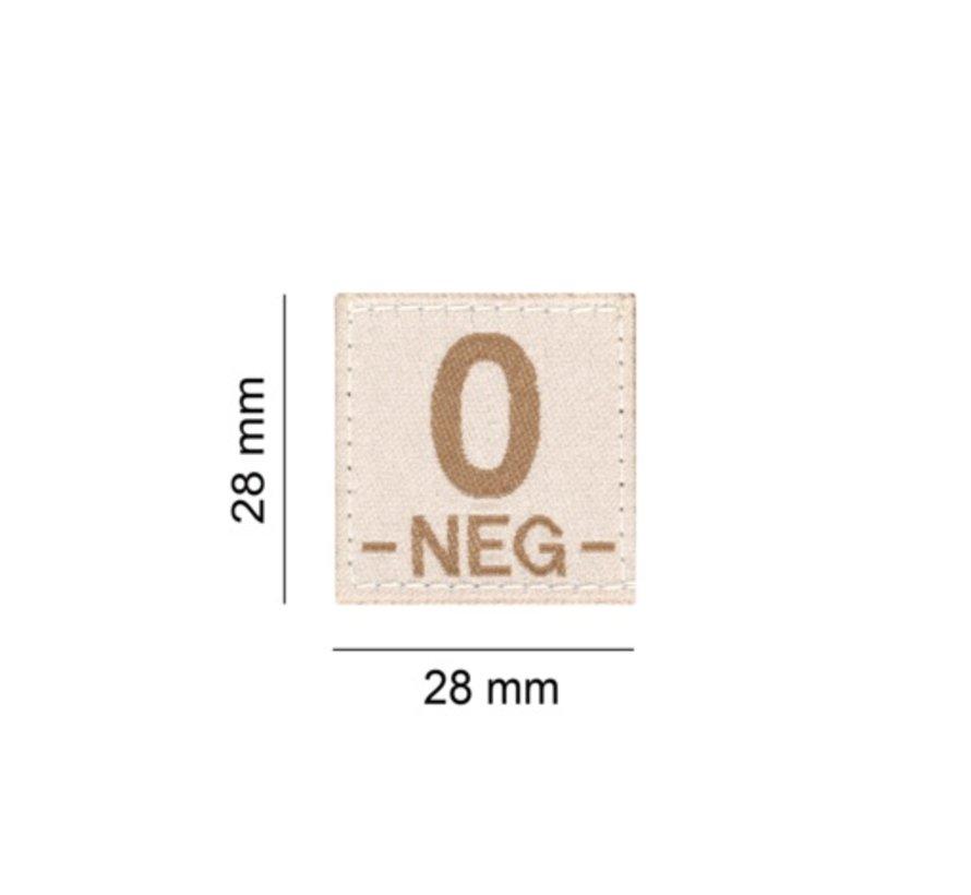 O NEG Bloodgroup Patch (Desert)
