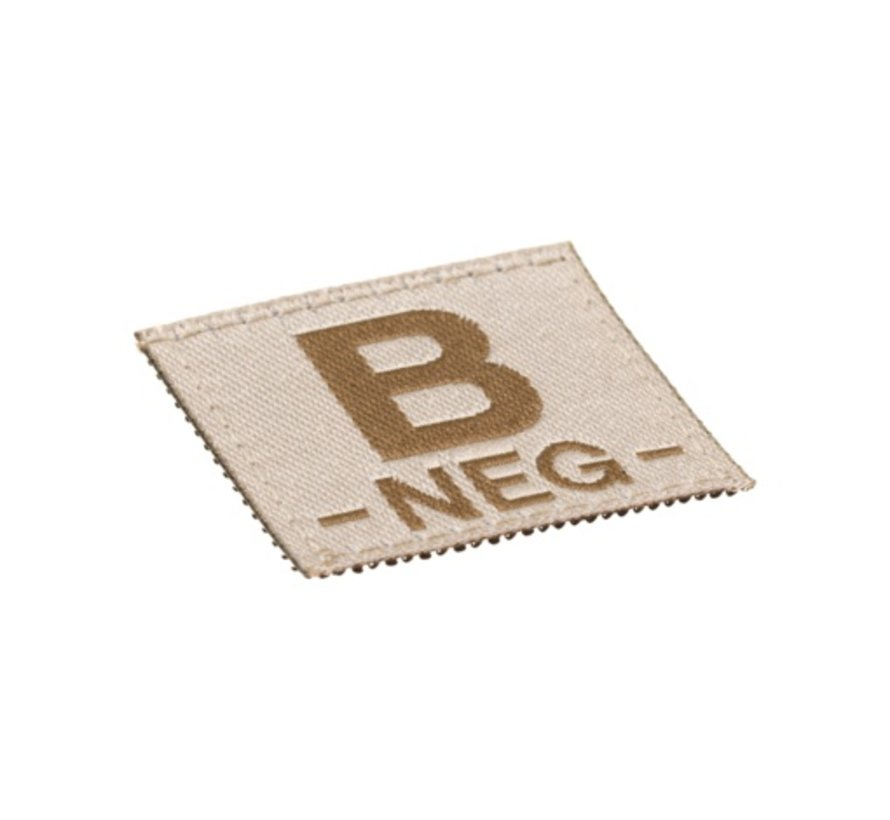 B NEG Bloodgroup Patch (Desert)