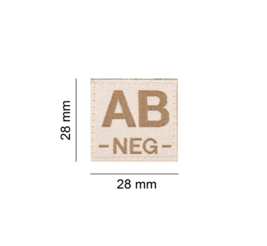 AB NEG Bloodgroup Patch (Desert)