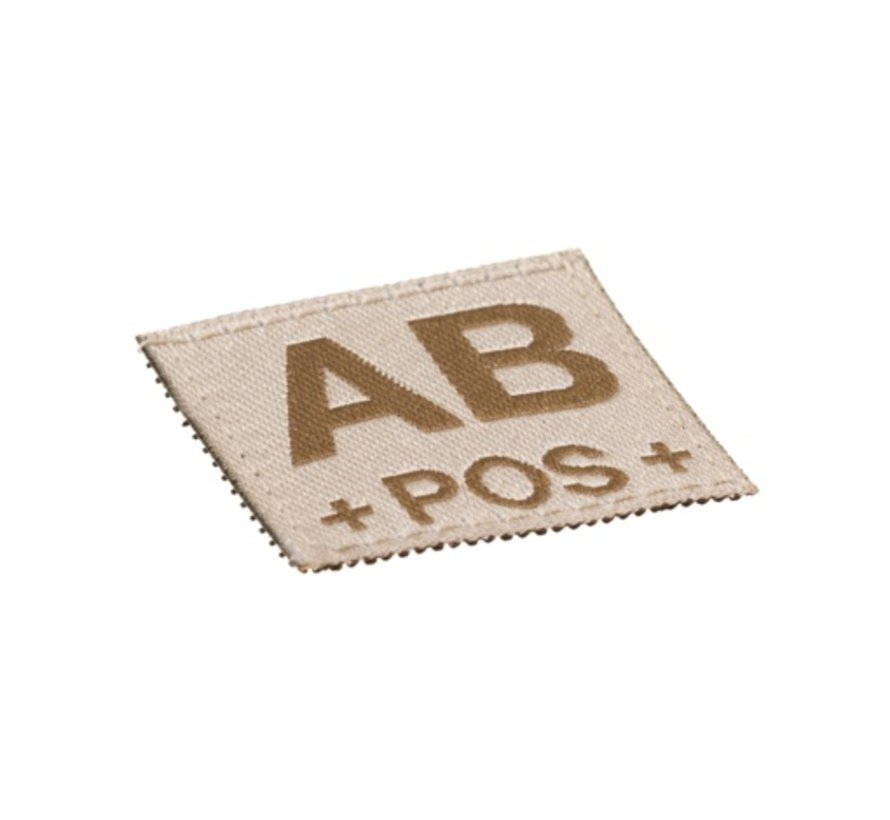 AB POS Bloodgroup Patch (Desert)