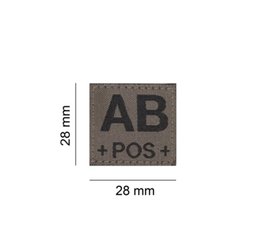 AB POS Bloodgroup Patch (RAL7013)