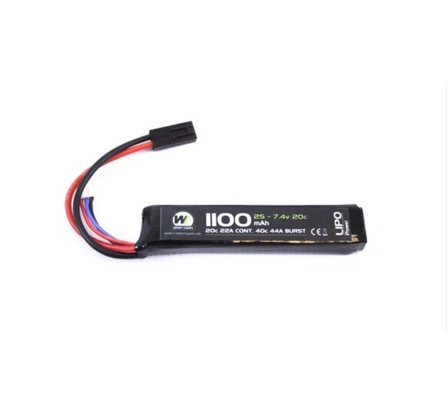 LiPo 7.4V 1100mAh 20C Stick Type