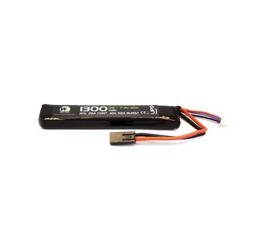 LiPo 7.4V 1300mAh 20C Stick Type