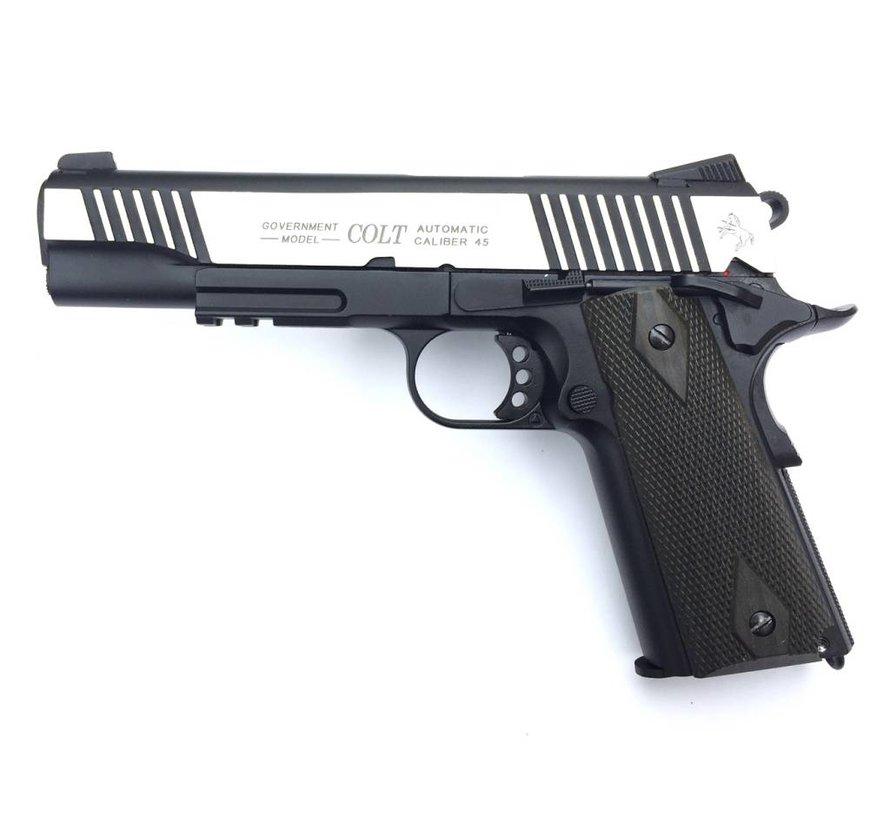 Colt 1911 Rail Gun Dual Tone CO2