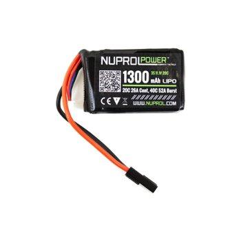 NUPROL LiPo 11.1V 1300mAh 20C PEQ Type