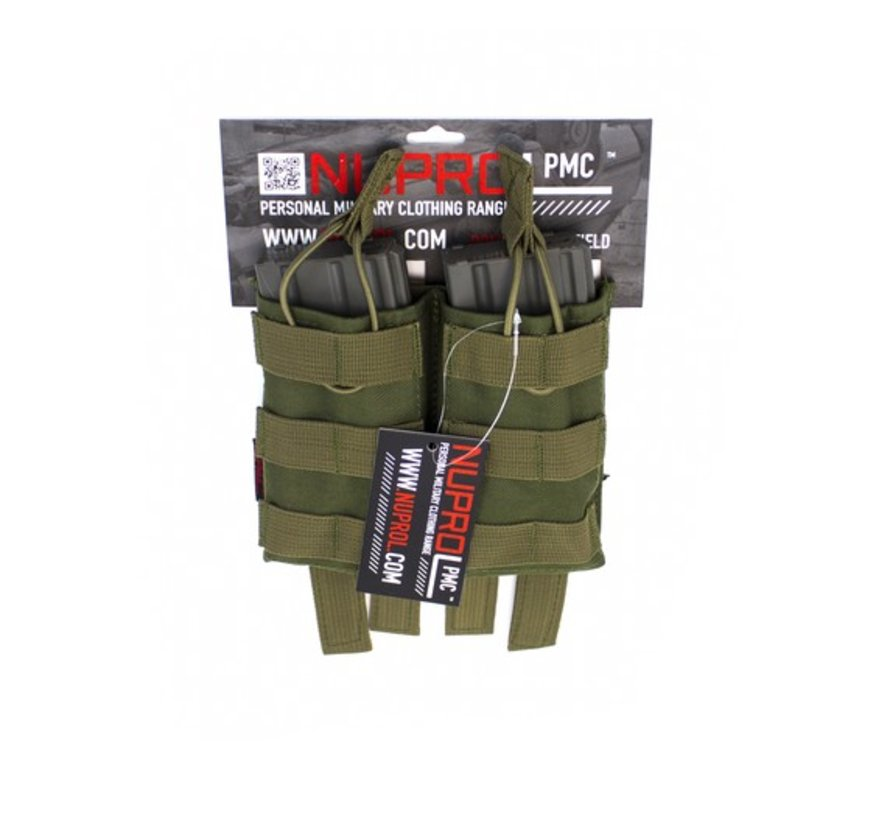 PMC M4 Double Open Mag Pouch (Green)