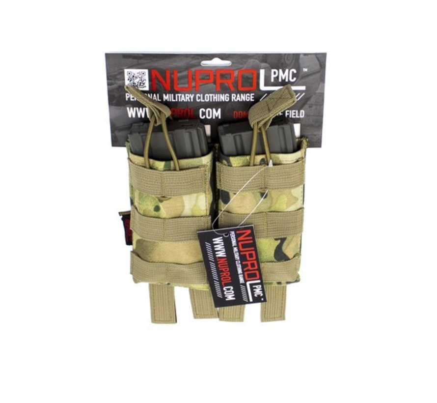 PMC M4 Double Open Mag Pouch (NP Camo)