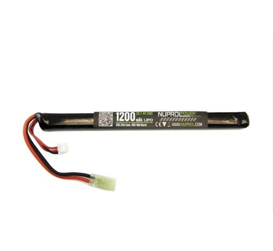 LiPo 7.4V 1200mAh 20C Slim Stick AK Type