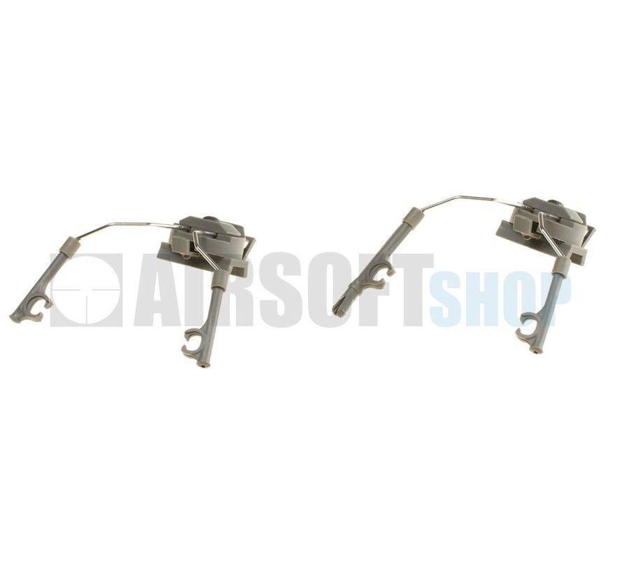 Comtac Helmet Rail Adapter Set (Foliage Green)