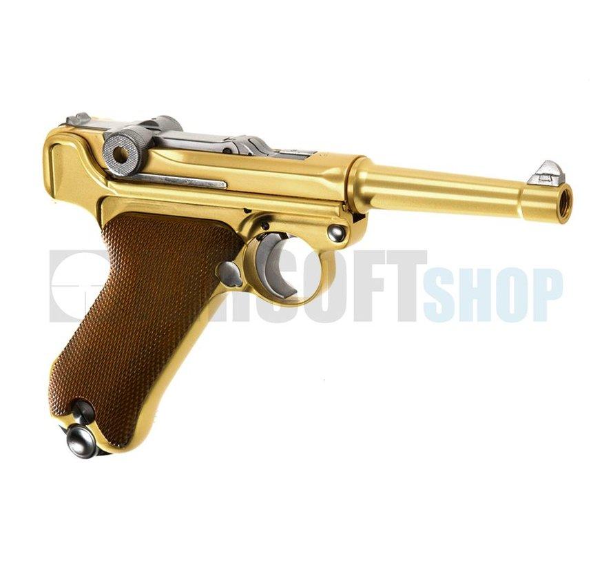 P08 Full Metal Gold GBB