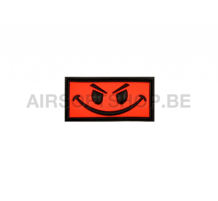 Evil Smiley PVC Patch (Red)
