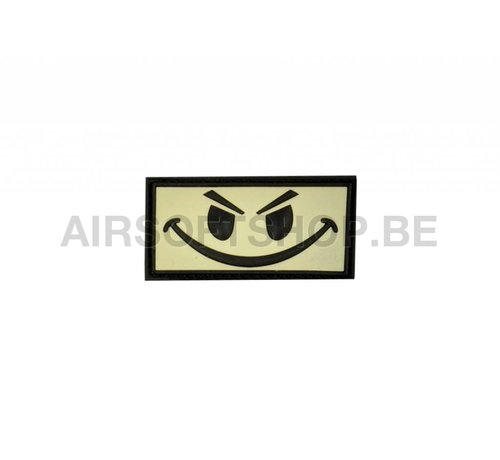 JTG Evil Smiley PVC Patch (Black Ghost Glow In The Dark)