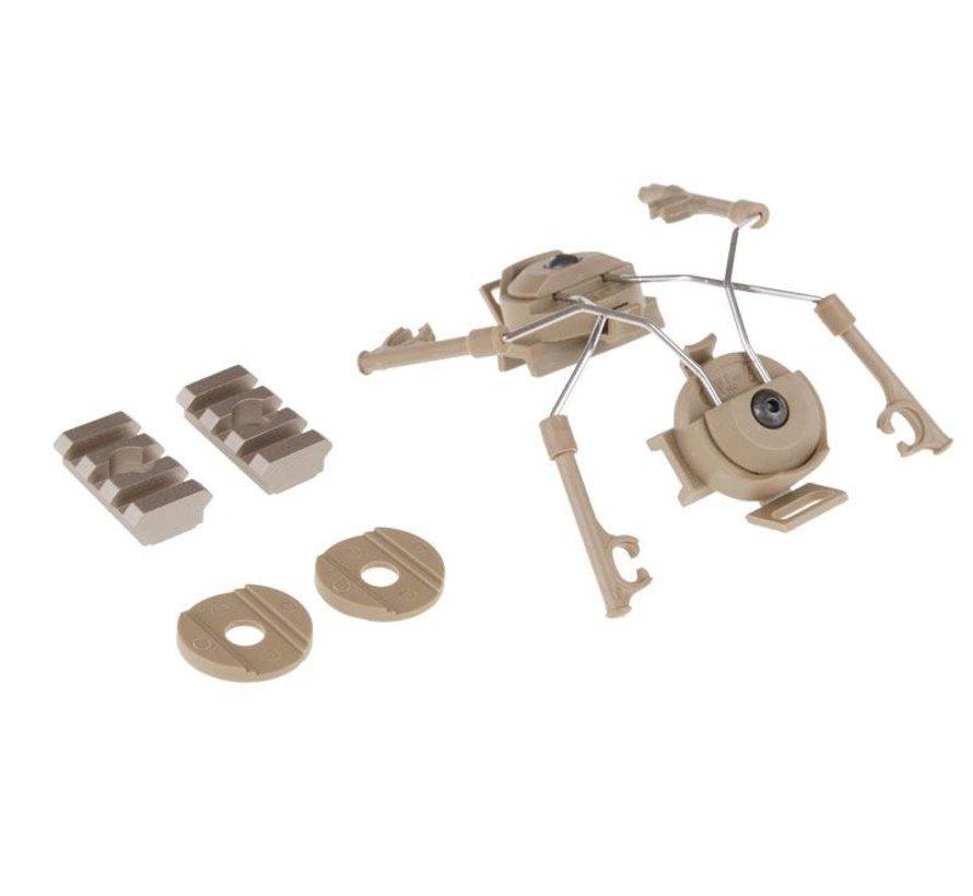 Comtac Helmet Rail Adapter (Dark Earth)