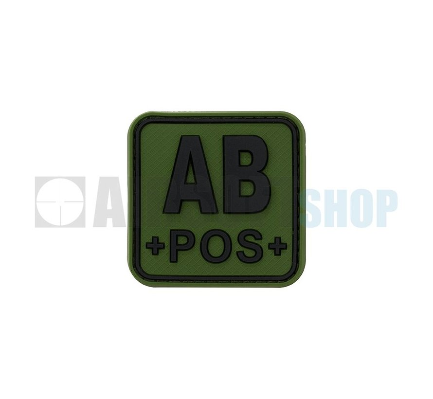 Bloodtype Square PVC Patch AB POS (Forest)