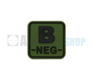 JTG Bloodtype Square PVC Patch B NEG (Forest)