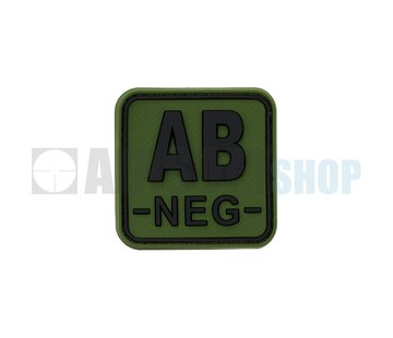 JTG Bloodtype Square PVC Patch AB NEG (Forest)