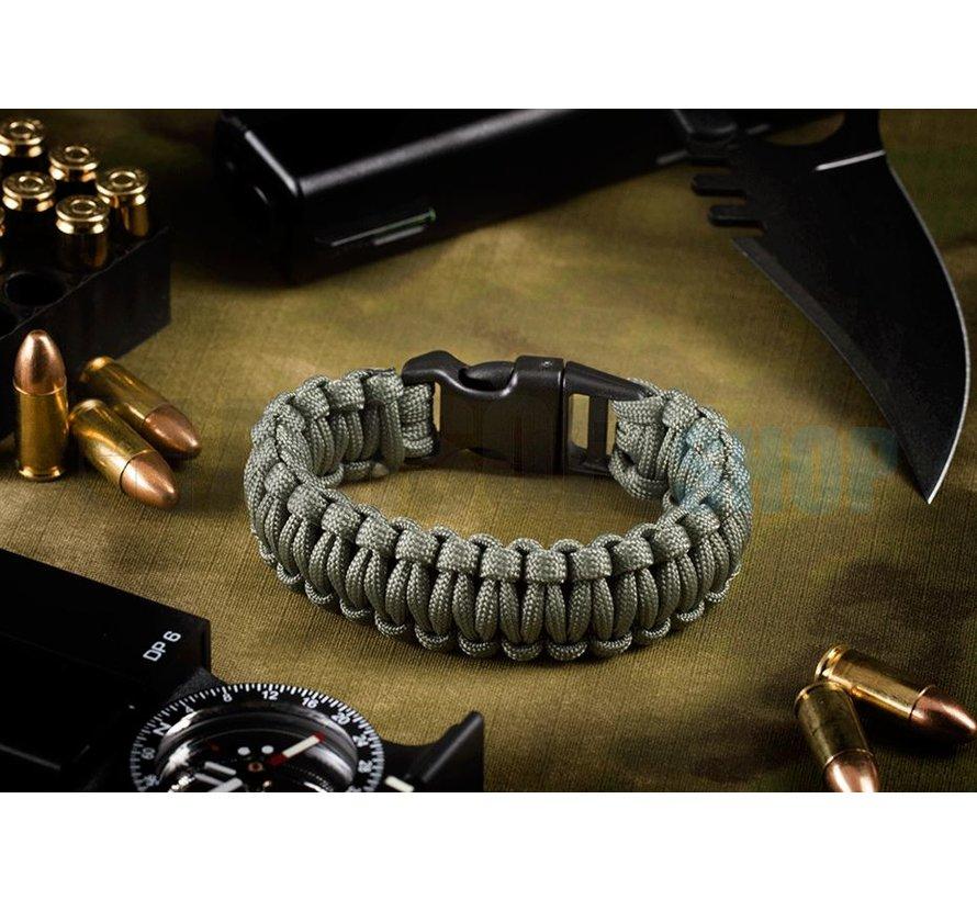 Paracord Bracelet (Dark Grey)