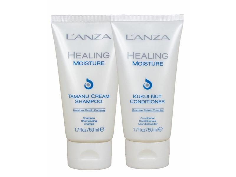 L'ANZA Healing Moisture Tamanu Shampoo & Kukui Nut Conditioner 50ml