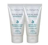 L'ANZA Healing Strength Manuka Honey Conditioner & White Tea Shampoo 50ml