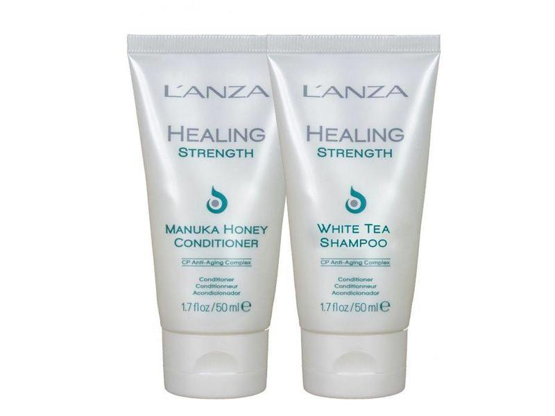 L'ANZA Healing Strength Manuka Honey Conditioner & White Tea Shampoo 50ml