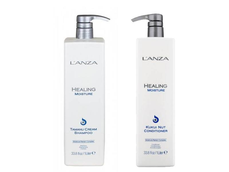 L'ANZA Healing Moisture Tamanu Shampoo & Kukui Nut Conditioner 1000ml