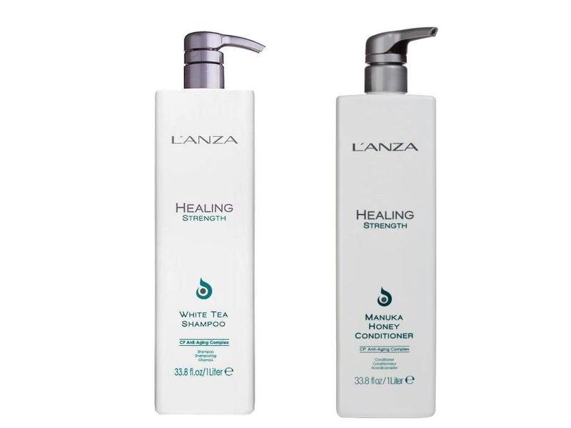 L'ANZA Healing Strength Manuka Honey Conditioner & White Tea Shampoo 1000ml