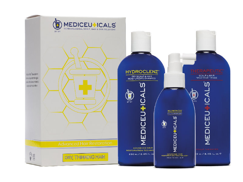 Mediceuticals Advanced Hair Restoration Kit for Dry, Thinning Hair