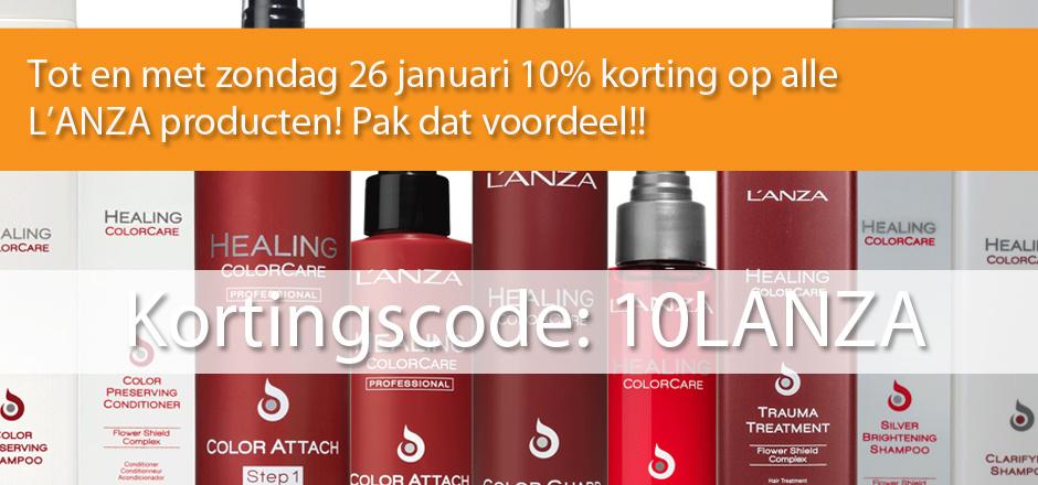 L'ANZA Actie - 10% korting op alle producten