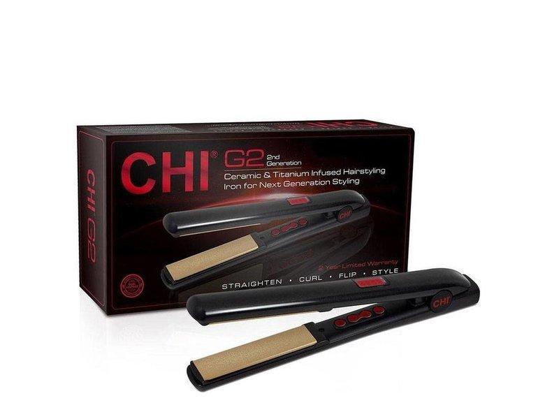 Chi G2 Ceramic & Titanium Stijltang Auto Shut-Off en GRATIS BioSilk Silk Therapy