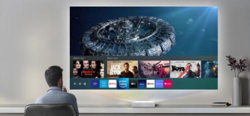 Hoe kijk ik televisie met een beamer